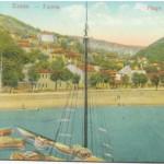 """Ulcinj 1931 godine : """"Bojana"""" u sredini pokrivena jarbolom broda."""